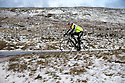 11/12/14<br /> <br /> A cyclist braves the cold to make his way along the A53 between Buxton and Leek after overnight snow fall settles on hills in the Derbyshire Peak District.<br /> <br /> ***ANY UK EDITORIAL PRINT USE WILL ATTRACT A MINIMUM FEE OF &pound;130. THIS IS STRICTLY A MINIMUM. USUAL SPACE-RATES WILL APPLY TO IMAGES THAT WOULD NORMALLY ATTRACT A HIGHER FEE . PRICE FOR WEB USE WILL BE NEGOTIATED SEPARATELY***<br /> <br /> <br /> All Rights Reserved - F Stop Press. www.fstoppress.com. Tel: +44 (0)1335 300098