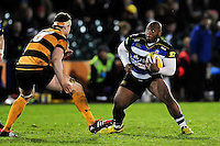 Beno Obano of Bath United in possession. Aviva A-League match, between Bath United and Wasps A on December 28, 2016 at the Recreation Ground in Bath, England. Photo by: Patrick Khachfe / Onside Images