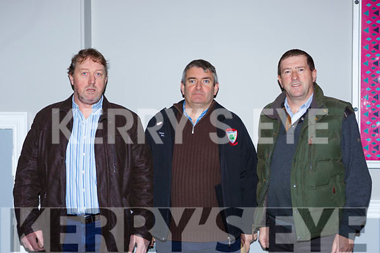 John Ladden Keel, James Rochford Kenmare and Donal Ashe Keel at the Kerry GAA County Board Convention in the INEC on Monday night