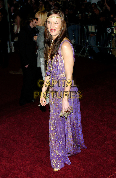 "JULIETTE LEWIS .2007 Metropolitan Museum of Art Costume Institute Gala celebrating ""Poiret: King of Fashion"" exibition at the Metropolitan Museum of Art, New York City, New York, USA..May 7th, 2007.full length purple gold dress pattern necklace headband .CAP/ADM/BL.©Bill Lyons/AdMedia/Capital Pictures *** Local Caption ***"