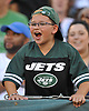 Kevin Brindisi, 10, cheers on the New York Jets during the team's annual Green & White practice and scrimmage at MetLife Stadium in East Rutherford, NJ on Saturday, Aug. 5, 2017.
