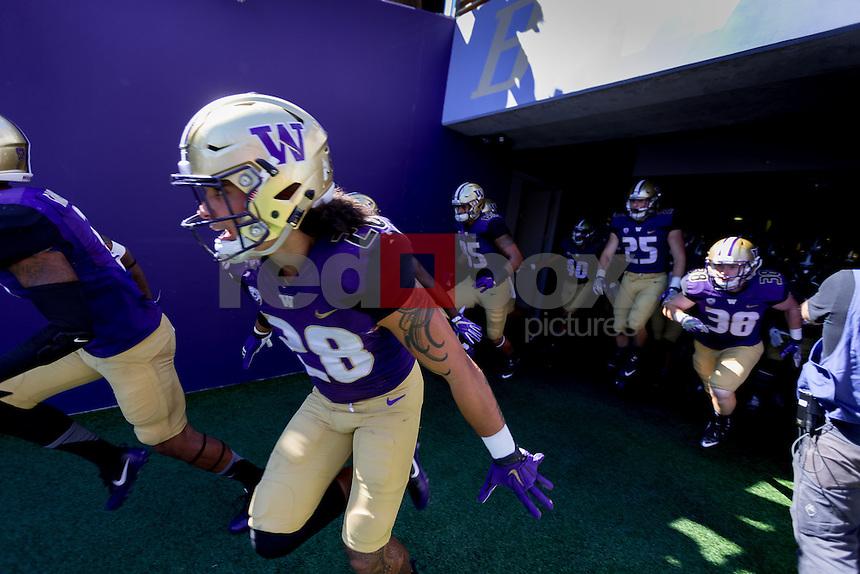 The University of Washington football team plays Idaho University at Husky Stadium in Seattle on September 10, 2016. (Photography by Scott Eklund/Red Box Pictures)