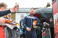 Bolton Wanderers'  Ben Alnwick gets off the coach outside Griffin Park<br /> <br /> Photographer Alex Dodd/CameraSport<br /> <br /> The EFL Sky Bet Championship - Brentford v Bolton Wanderers - Saturday 13th January 2018 - Griffin Park - Brentford<br /> <br /> World Copyright &copy; 2018 CameraSport. All rights reserved. 43 Linden Ave. Countesthorpe. Leicester. England. LE8 5PG - Tel: +44 (0) 116 277 4147 - admin@camerasport.com - www.camerasport.com