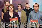NEW BOOK: Angela O'Reilly, Valerie O'Connor, Patrick Granville, Michael O'Connor and Danny Healy pictured at the launch of the Kilgarvan Historical and Photographic Society book, Moments and Memories, on Saturday in the Kenmare Bay Hotel.