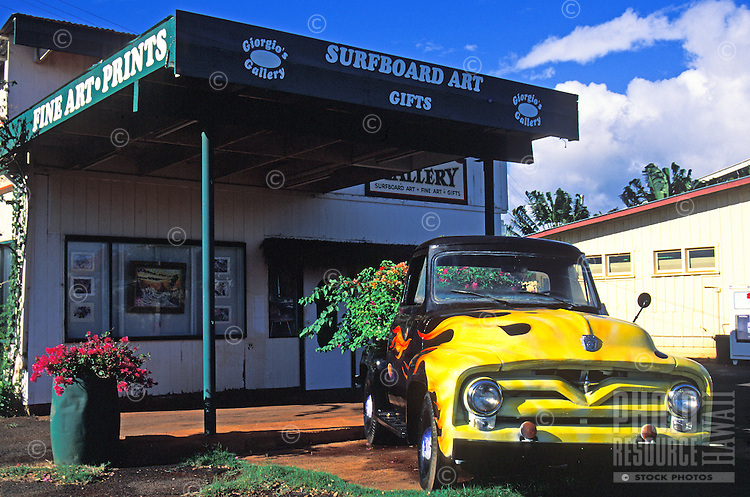 Giogio's gallery, in the town of Hanapepe, island of Kauai