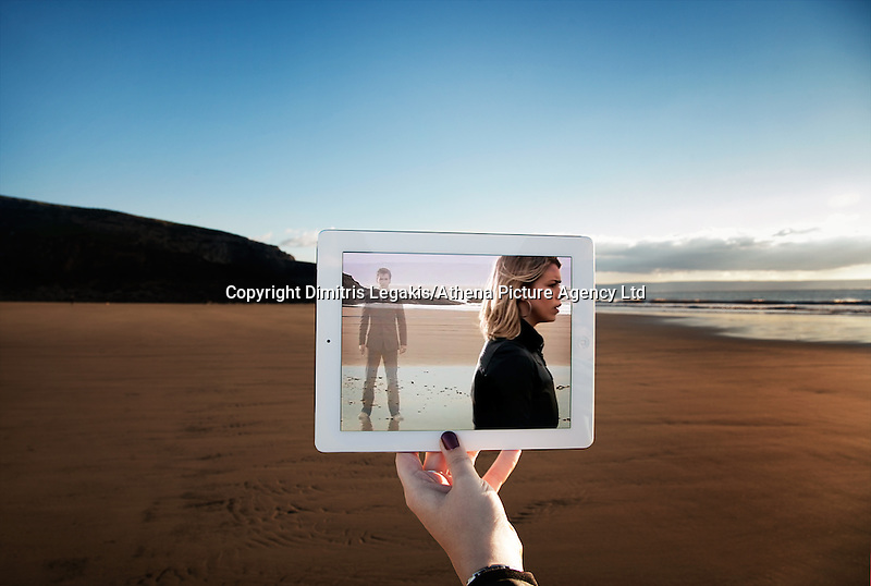 """Pictured: Filming of Doctor Who in Dunraven Bay, South Wales with David Tennant and Billie Piper<br /> Re: A pair of film lovers have turned detective to track down locations from films and TV shows - and capture the exact scenes on their iPads.<br /> Tiia Ohman, 25, and Satu Walden, 26, travel hundreds of miles across Britain tracing the footsteps of their movie heroes to photograph the action spots.<br /> The two young women who live in Cardiff painstakingly recreate their favourite scenes using an iPad or phone screens to stand in for the stars.<br /> They've brought to life scenes from silver screen blockbuster such as Harry Potter, Les Miserables and Warhorse.<br /> And their """"sceneframing"""" shots also feature locations seen in Dr Who, Sherlock and Merlin.<br /> Tiia said: """"This combines our love of TV and movies, photography, travel and much more.<br /> """"What started as an epic road trip to filming locations all over the UK eventually led to a series of photos we like to call sceneframing.<br /> """"Visiting filming locations is the perfect way to see places you wouldn't necessarily find in Lonely Planet books and travel guides.""""<br /> Tiia and Satu, originally from Finland, live in Cardiff where they spend their spare time researching film locations.<br /> Their """"fangirl quest"""" blog (www.fangirlquest.com) has already seen them cover more than 2,000 miles travelling across the country including top locations in Cardiff, Newport and Pembrokeshire."""