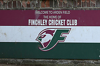 Finchley CC signage during Finchley CC vs Brondesbury CC (batting), ECB National Club Championship Cricket at Arden Field on 12th May 2019