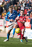 St Johnstone v Aberdeen&hellip;15.04.17     SPFL    McDiarmid Park<br />David Wotherspoon and Johnny Hayes<br />Picture by Graeme Hart.<br />Copyright Perthshire Picture Agency<br />Tel: 01738 623350  Mobile: 07990 594431