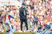 MOSCOU, RUSSIA, 15.07.2018 - FRANCA-CROACIA - Nicky Jam darante cerimonia de encerramento da Copa do Mundo da Russia no Estádio Luzhnikina cidade de Moscou na Russia neste domingo, 15.  (Foto: William Volcov/Brazil Photo Press)