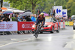 Sonny Colbrelli (ITA) Bahrain-Merida in action during Stage 1, a 14km individual time trial around Dusseldorf, of the 104th edition of the Tour de France 2017, Dusseldorf, Germany. 1st July 2017.<br /> Picture: Eoin Clarke | Cyclefile<br /> <br /> <br /> All photos usage must carry mandatory copyright credit (&copy; Cyclefile | Eoin Clarke)