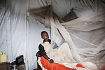 Maison Medical centre in Goma, Tresor Muima, 24, suffer from Malria fever, in the clinic since 4 days.<br />