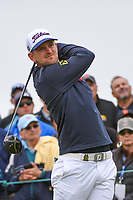 Bernd Wiesberger (AUT) watches his tee shot on 9 during round 2 of the 2019 US Open, Pebble Beach Golf Links, Monterrey, California, USA. 6/14/2019.<br /> Picture: Golffile | Ken Murray<br /> <br /> All photo usage must carry mandatory copyright credit (© Golffile | Ken Murray)