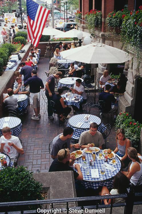 Cafe on Newbury Street, Back Bay, Boston, MA