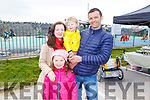 The O'Sullivan family from Foilmore Caherciveen at the Wild Mind Festival on Sunday<br /> L to r: Geraldine, Aoibhinn, Conor and Mark O'Sullivan.
