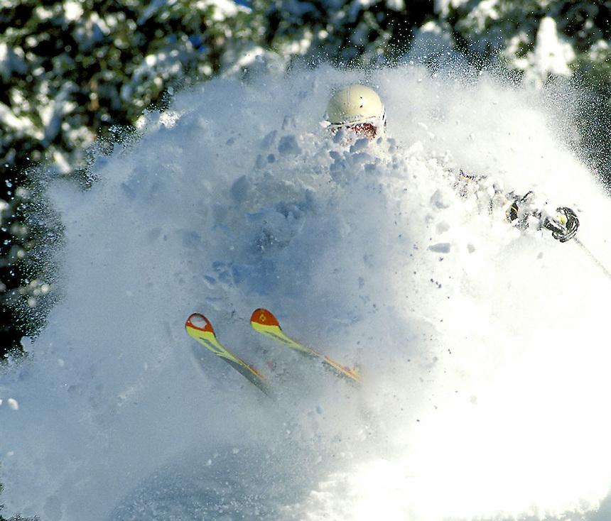 STOCK- Peter Velesik skis through a pillow of snow at Whitewater Ski Resort in Nelson, B.C., on Feb. 23, 2001..(Photo By Sean Kilpatrick)
