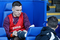 (L-R) Barrie McKay of Swansea City speaks with Physiotherapist, Ritson Lloyd during the Sky Bet Championship match between Sheffield Wednesday and Swansea City at Hillsborough Stadium, Sheffield, England, UK. Saturday 23 February 2019
