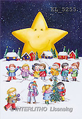 Interlitho, Isabella, CHRISTMAS CHILDREN, paintings, kids, snow, star(KL5255,#XK#)
