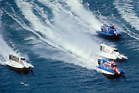 #77, #3, #16 and #40 USFORA Formula One (F1) Tunnel Boats, Cincinnati, Ohio 1988