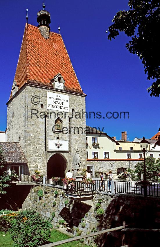 Oesterreich, Oberoesterreich, Muehlviertel, Freistadt: Linzer Tor   Austria, Upper Austria, Muehlviertel, Freistadt: town gate Linzer Tor