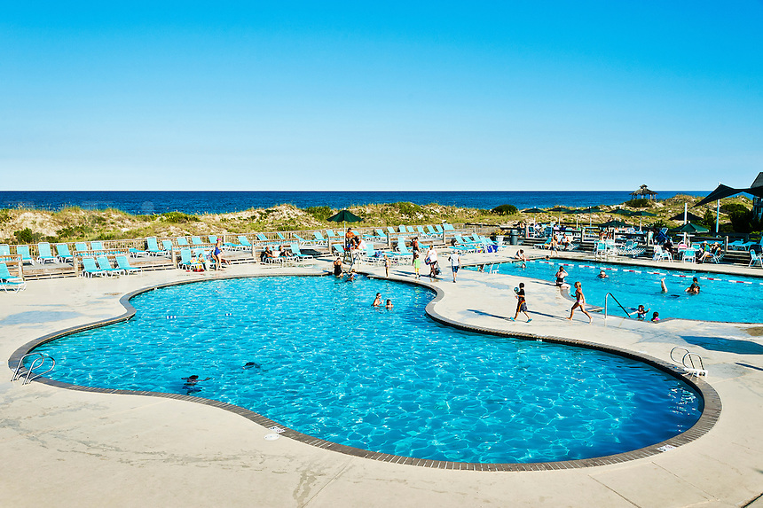 Corolla Light Resort pool and beach, Corolla, Outer Banks, North Carolina