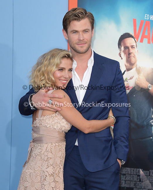 Chris Hemsworth and Elsa Pataky<br />  attends The Warner Bros. Pictures' L.A. Premiere of Vacation held at The Regency Village Theatre  in Westwood, California on July 27,2015                                                                               © 2015 Hollywood Press Agency