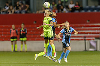 Chicago, IL - Sunday Sept. 04, 2016: Jessica Fishlock, Samantha Johnson during a regular season National Women's Soccer League (NWSL) match between the Chicago Red Stars and Seattle Reign FC at Toyota Park.
