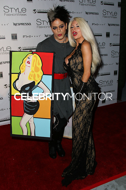 LOS ANGELES, CA, USA - MARCH 14: Sham Ibrahim, Courtney Stodden at the Style Fashion Week Los Angeles 2014 7th Season - Day 5 held at L.A. Live Event Deck on March 14, 2014 in Los Angeles, California, United States. (Photo by Xavier Collin/Celebrity Monitor)