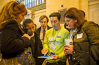Job seekers attend The Ladders' Job Central in Grand Central Terminal in New York on Thursday, January 10, 2013. Employers, recruiters, and career experts were present to help and encourage people in their job search.  The US Labor Department reports new claims for unemployment benefits for last week were a seasonally adjusted 371,000. ( © Frances M. Roberts)