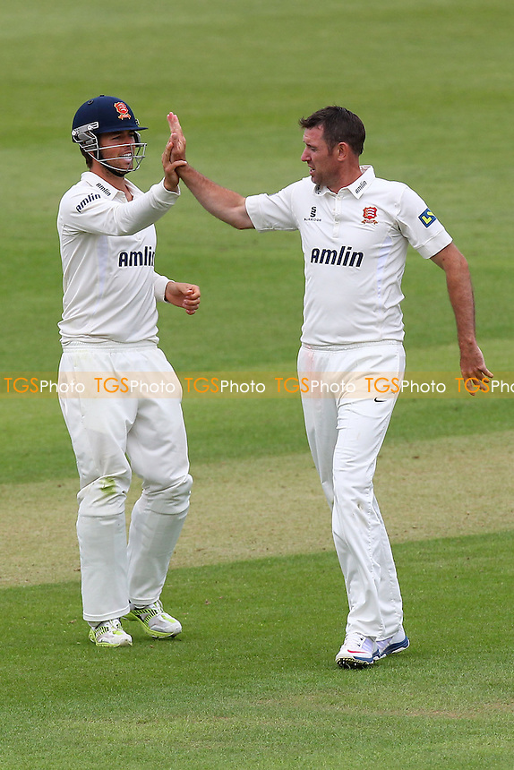 David Masters of Essex (R) is congratulated on the wicket of Michael Bates - Hampshire CCC vs Essex CCC - LV County Championship Division Two Cricket at the Ageas Bowl, West End, Southampton - 15/06/14 - MANDATORY CREDIT: Gavin Ellis/TGSPHOTO - Self billing applies where appropriate - 0845 094 6026 - contact@tgsphoto.co.uk - NO UNPAID USE
