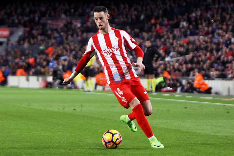 League Santander 2016/2017. Game: 25.<br /> FC Barcelona vs Real Sporting SAD: 6-1.<br /> Burgui.