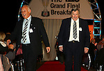 The Grand Final Breakfast, Melbourne Exhibition Centre 29-9-07, The VIP Guests arrive down the red carpet, Geelong President Frank Coster and Geelong great Bobby Davis..