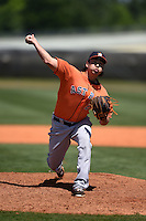 Houston Astros Kevin Comer (27) during a minor league spring training game against the Atlanta Braves on March 29, 2015 at the Osceola County Stadium Complex in Kissimmee, Florida.  (Mike Janes/Four Seam Images)
