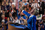 Former Michigan Governor Jennifer Granholm speaks at the Democratic National Convention on Thursday, September 6, 2012 in Charlotte, NC.