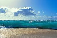 Keiki beach wave breaking, Oahu