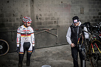 Marcel Meisen (DEU/Corendon–Circus) after the course recon<br /> <br /> Jaarmarktcross Niel 2019 (BEL)<br /> <br /> ©kramon