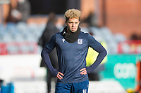 8th February 2020; Dens Park, Dundee, Scotland; Scottish Championship Football, Dundee versus Partick Thistle; Declan McDaid of Dundee during the warm up before the match
