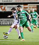 2018-03-10 / Voetbal / Seizoen 2017-2018 / Oosterzonen - Chatelet / Toon Janssen (l. Oosterzonen) met El Khaida<br /> <br /> ,Foto: Mpics.be