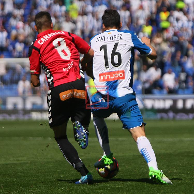League Santander 2016/2017. Game: 31.<br /> RCD Espanyol vs Deportivo Alaves: 1-0.<br /> Camarasa vs Javi Lopez.