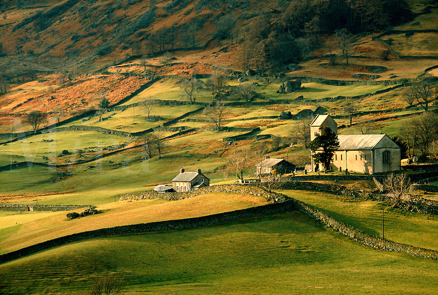 .An autumn day in the Kentmere Valley in the lake District, Cumbria, England...
