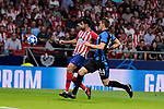 Atletico de Madrid's Diego Costa and Club Brugge's Brandon Mechele during UEFA Champions League match between Atletico de Madrid and Club Brugge at Wanda Metropolitano Stadium in Madrid, Spain. October 03, 2018. (ALTERPHOTOS/A. Perez Meca)