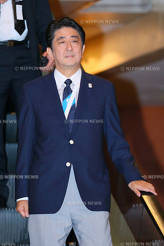 Shinzo Abe, <br /> SEPTEMBER 7, 2013 : <br /> the 2020 Summer Olympic Games bid fianl presentation during the 125th International Olympic Committee (IOC) session in Buenos Aires Argentina, on Saturday September 7, 2013. <br /> (Photo by YUTAKA/AFLO SPORT) [1040]