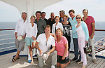 Guiding Light's Beth Chamberlin, Liz Keifer, Mandy Bruno, Kim Zimmer, Tina Sloan, Grant Aleksander, Ron Raines, Robert Bogue, Michael O'Leary, Robert Newman, Jordan Clarke, Frank Dicopoulos  - Day 5 Wednesday - August 4, 2010 - So Long Springfield at Sea - A Final Farewell To Guiding Light sets sail from NYC to St. John, New Brunwsick and Halifax, Nova Scotia from July 31 to August 5, 2010  aboard Carnival's Glory (Photos by Sue Coflin/Max Photos)