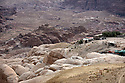 A PIECE OF JORDAN - TRAVEL FEATURE. MODERN DAY BEDOUIN SETTLEMENTS ABOVE THE ANCIENT NABATEAN SITE OF LITTLE PETRA. PHOTO BY CLARE KENDALL. 07971 477316.