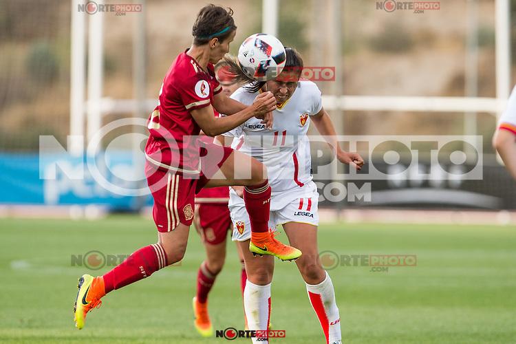 Spain's Sonia Bermudez and Montenegro's Armisa Kuc during the match of  European Women's Championship 2017 at Las Rozas, between Spain and Montenegro. September 15, 2016. (ALTERPHOTOS/Rodrigo Jimenez) /NORTEPHOTO