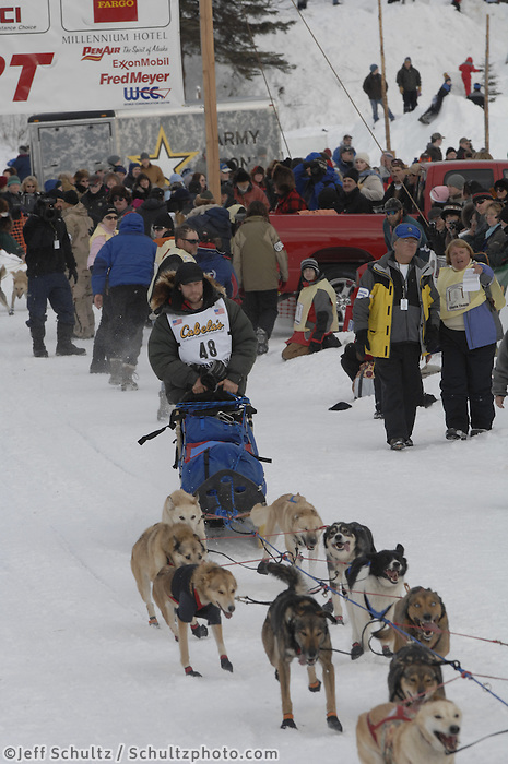 Ramey Smyth Willow restart Iditarod 2008.