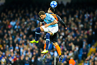 Manchester City's Kyle Walker battles with Shakhtar Donetsk's Ismaily<br /> <br /> Photographer Alex Dodd/CameraSport<br /> <br /> UEFA Champions League Group F - Manchester City v Shakhtar Donetsk - Wednesday 7th November 2018 - City of Manchester Stadium - Manchester<br />  <br /> World Copyright &copy; 2018 CameraSport. All rights reserved. 43 Linden Ave. Countesthorpe. Leicester. England. LE8 5PG - Tel: +44 (0) 116 277 4147 - admin@camerasport.com - www.camerasport.com