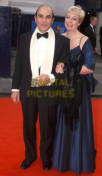 DAVID SUCHET.BAFTA Television Awards, London, 21st April 2002..full length.Ref: PH.sales@capitalpictures.com.www.capitalpictures.com