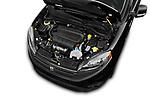Car stock 2018 Ram Promaster City SLT Wagon 5 Door Mini Van engine high angle detail view