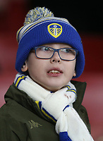 Leeds fan<br /> <br /> Photographer Rob Newell/CameraSport<br /> <br /> Emirates FA Cup Third Round - Arsenal v Leeds United - Monday 6th January 2020 - The Emirates Stadium - London<br />  <br /> World Copyright © 2020 CameraSport. All rights reserved. 43 Linden Ave. Countesthorpe. Leicester. England. LE8 5PG - Tel: +44 (0) 116 277 4147 - admin@camerasport.com - www.camerasport.com