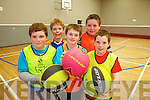 Having fun at the multi-sports camp in Moyvane last week from front l-r were: David Sexton McEnery, Jamie O'Connor and Cathal Sweeney. Back l-r were: Jack O'Connor and Declan Sexton McEnery.